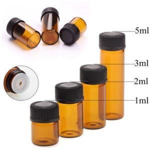 2ml druppelflesje fles amber glas druppel reguleringsdopje (10 stuks)
