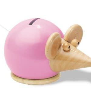 spaarpot muis roze