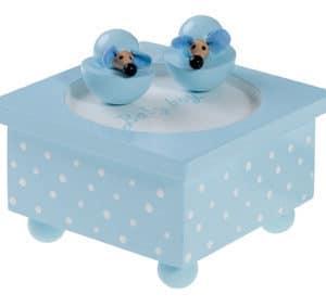 Muziekdoosje baby boy blauwe muisjes