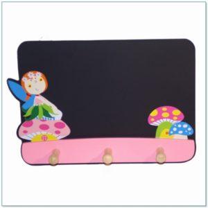 Schoolbordje en kinderkapstok Fee Paddenstoel