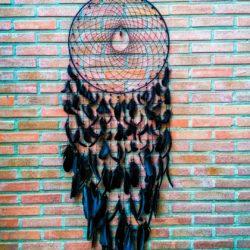 Dromenvanger Anca night angel handgemaakt zwart 50 cm.