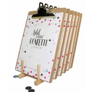 Confetti Verjaardagskalender + Klembord A4