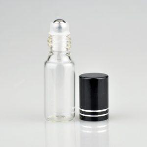 Glazen roller flesje 5 ml lege parfum roll on fles essentiële oliën ( 5 stuks )
