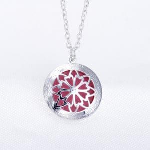 Parfum ketting zilveren medaillon aroma diffuser pad