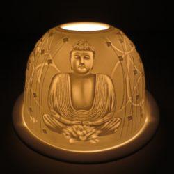 Sfeerlicht porselein theelichthouder Boeddha