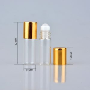 Roll on parfumroller flesje 2 ml roller essentiële oliën (5 stuks)