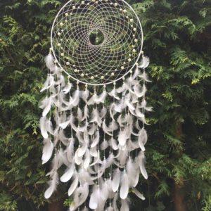 Dromenvanger Anca white purify pearl handgemaakt 50 cm
