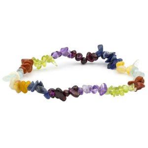 Armband 7 chakra steentjes elastisch