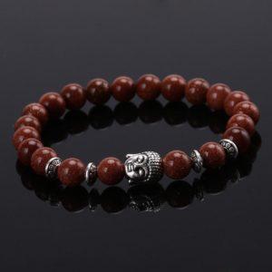 Armband goudsteen kralen Boeddha