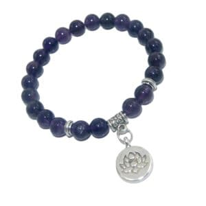 Armband Lotus Amethist natuursteen
