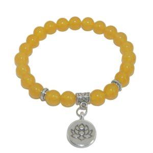 Armband Lotus Gele Jade natuursteen