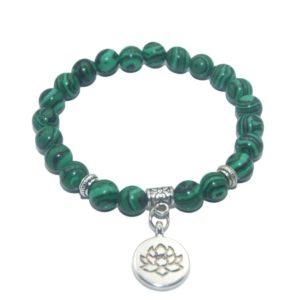 Armband Lotus Malachiet natuursteen