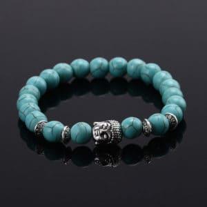 Armband turquoise crystal kralen Boeddha