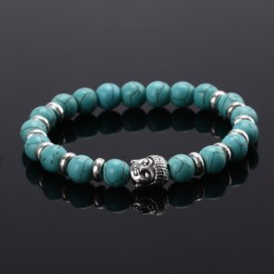 Armband turquoise crystal kralen Buddha