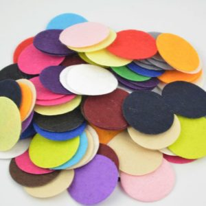 Aroma Pads 25mm vilt rond voor Parfum Diffuser Medaillons