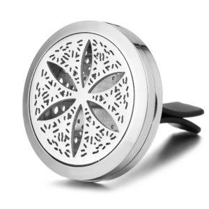 Auto Geur Medaillon Bloem, ventilatie diffuser Clip essentiële oliën
