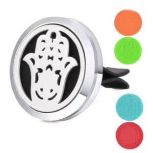 Auto Geur Medaillon Hamsa Hand, ventilatie diffuser Clip essentiële oliën