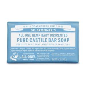 Baby Mild neutrale zeep Dr Bronner's Bar soap 140gr