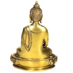 Boeddha Amithaba beeld Goud 20cm messing