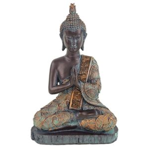 Boeddha in gebed antieke finish Thailand