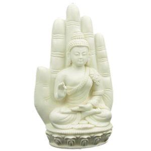 Boeddha in hand wit