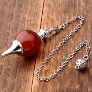 Bruin – Rode Agaat Pendel edelsteen – natuurstenen Chakrasieraden