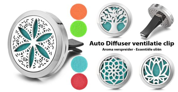 Car Ventilatie Diffuser clip & Essentiële oliën