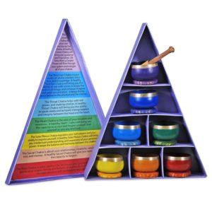 Chakra klankschalen geschenkset