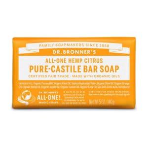 Citrus & orange vaste zeep Dr Bronner's Bar soap 140gr