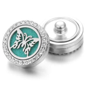 Clicks aroma button vlinder, parfum medaillon + aroma pad – clicks buttons