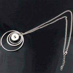 Clicks ketting ringen rond verstelbaar – button halsketting drukknoop 18 mm