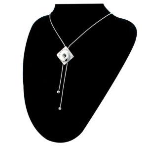 Clicks ketting vierhoekig verstelbaar – button halsketting drukknoop 18 mm