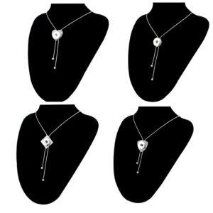 Clicks ketting rond verstelbaar – button halsketting drukknoop 18 mm