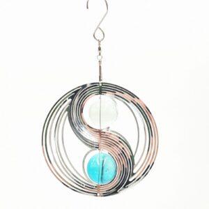 Cosmo Spinner Yin Yang aqua blauw