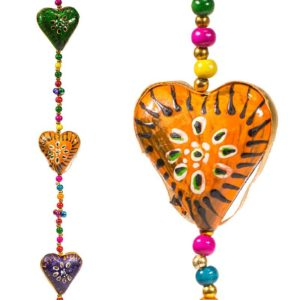 Decoratieve slinger hartjes belletje