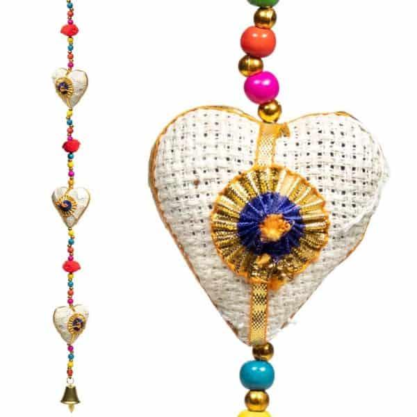 Decoratieve slinger hartjes jute