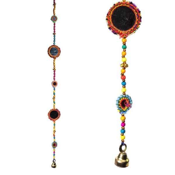 Decoratieve slinger Spiegels M belletje