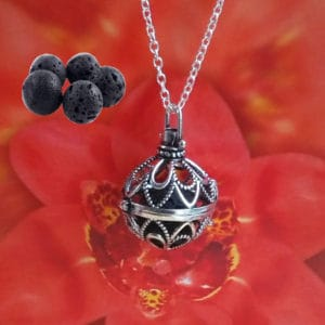 Diffuser aroma medaillon Mexico Flower parfum medaillon lavasteen