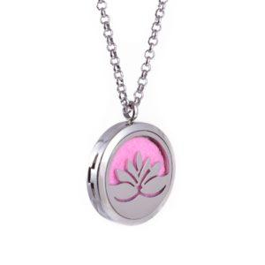 Diffuser Parfum Medaillon Hanger Lotus Ø 30 mm + pad – Aromatherapie