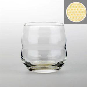 Drinkglas Mythos Bloem des Levens goud