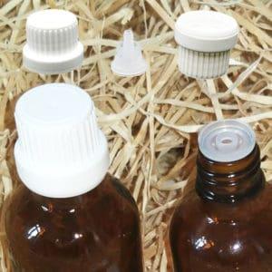 Druppeldoppen druppelaars garantiesluiting din18 – druppel dosering (5 stuks)