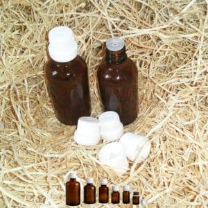 Druppelflesjes druppeldop – fles amber bruin glas + druppelaar 5 t/m 100ml