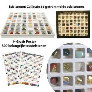 Edelstenen Collectie 55 getrommelde edelstenen giftbox + poster