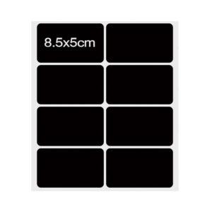 Vel krijtbord stickers 8 stuks groot 85 x 5 mm –  watervaste labels Etiketten