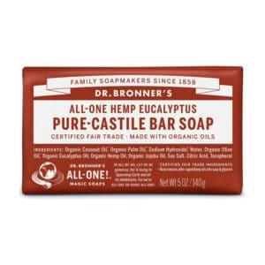 Eucalyptus vaste zeep Dr Bronner's Bar soap 140gr