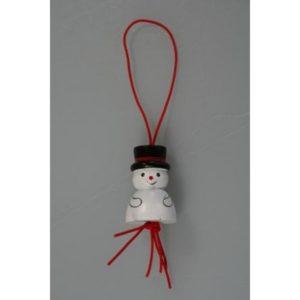 Gelukspoppetjes Sneeuwpop groot 3cm. 50 stuks.