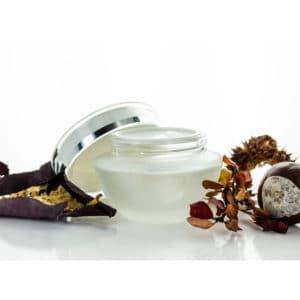 Glazen cosmetica pot mat glas luxe deksel – crème, zalf, poeder potje 50ml