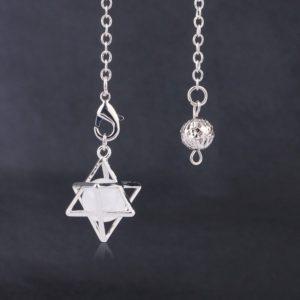 Hexagram Pendel Bergkristal edelsteen
