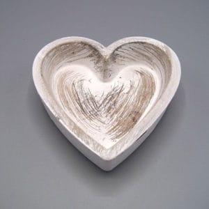 Houten schaal hart