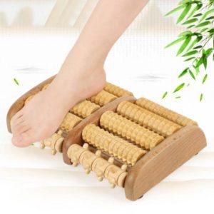 Houten voetmassage roller, dubbele voetroller, voet massage, reflexologie